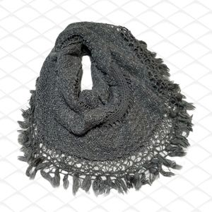 Mixit gray silver knitted infinity scarf